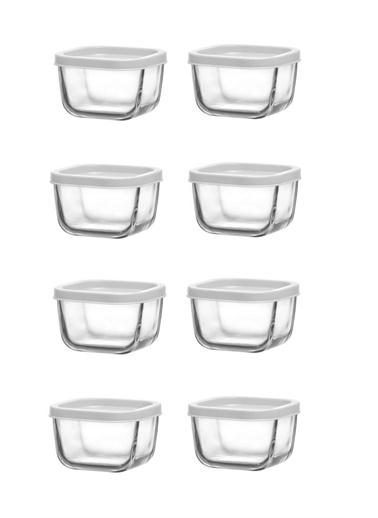Lav Saklama Kabı Cam Kahvaltılık 8 Li - Saklama Seti 270 Cc Beyaz Renkli